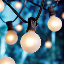 Bulb Lights String by Better Homes And Gardens 20 Count Frosted Glass Globe String