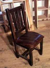 Reclaimed Dining Chairs Buy Crafted Reclaimed Oak Rustic Mission Dining Chairs With