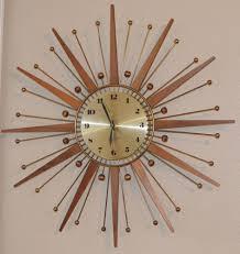 vintage westclox nocord atomic wall clock starburst retro drama