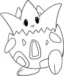 pokemon coloring pages togepi how to draw togepi pokemon hellokids com