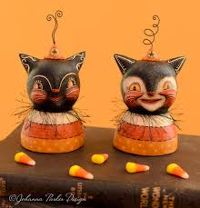 halloween busts halloween folk art u2014 johanna parker design