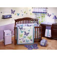amazon com nojo beautiful butterfly crib sheet by crown crafts