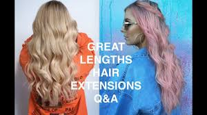 Hair Extension Lenghts by Great Lengths Hair Extensions Full Review Rachael Brook Youtube