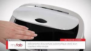 kitchen move poubelle de cuisine automatique 58 l poubelle automatique carrée 50l par myfab