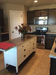 Diy Kitchen Islands Ideas Old Dresser Turned Into A Beautiful Kitchen Island With Scrap Wood