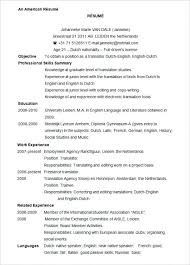 best chosen resume format usa exle resume