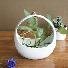 White Hanging Planter by Online Buy Wholesale White Ceramic Hanging Planter From China