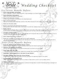 checklist u2013 local bride guide