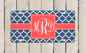 Customize Your Own Flag Monogram License Plate Design Your Own Monogram Car Tag
