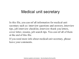 medical unit secretary 1 638 jpg cb u003d1403752118