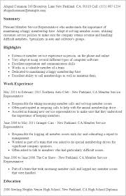 Well Written Resume Examples by Professional Member Service Representative Templates To Showcase