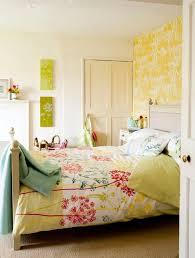 bedrooms ideas bedroom yelow bedroom ideas with floral wallpaper pretty