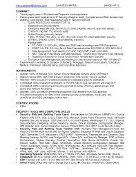 It Security Resume Sanjeev Mitra It Security And Auditing Resume
