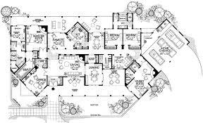 santa fe style house plans santa fe house plan 4 bedrooms 3 bath 3838 sq ft plan 68 138