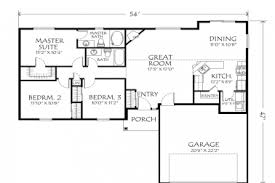 14 single story open floor plans 28x43 bungalow style house plan