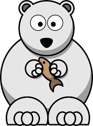clipart cartoon polar bear