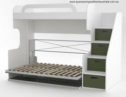 deluxe teen bunk wall bed space saving beds australia do olive