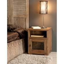 lampe de chevet montagne table de chevet bois acajou grisé cannelle 50cm louna pier import