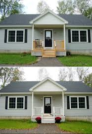 exterior small modern adding a front porch decoration using