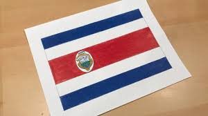 Flag Costa Rica Costa Rican Flag Drawing Youtube