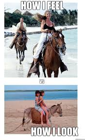 Horse Riding Meme - how i feel how i look vs horseback riding quickmeme