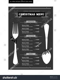restaurant food menu template design black stock vector 232431826