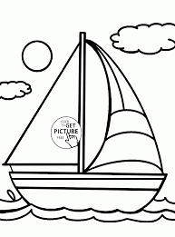 cute sailboat coloring page for kids transportation coloring