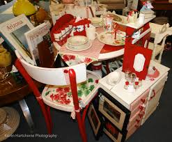 vintage kitchen dinette set in red and white copper country antiques
