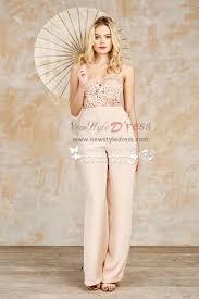dressy jumpsuits for weddings pink chiffon bridal jumpsuits dress for wedding wps 096
