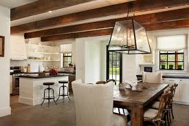 farmhouse dining table kitchen rustic with beams in the kitchen image by giana allen design llc