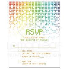 rsvp wording video game bar mitzvah a2 rsvp card gamer gaming pixel