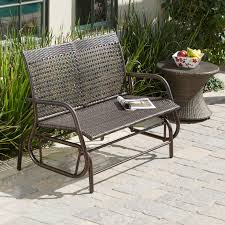 White Wicker Glider Loveseat by Coral Coast Casco Bay Resin Wicker Outdoor Glider Chair With