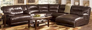 Chaise Lounge Small Leather Sectional Couch Modular Sectional