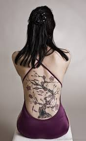 65 beautiful cherry blossom tattoos on back