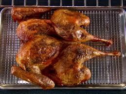 traditional roast turkey recipe alton brown food network alton s butterflied turkey food network