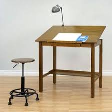 Contemporary Drafting Table With A Wide Frame And Ample Work Area This Industrial Style