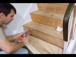 How To Lay Laminate Flooring Youtube - installing laminate on stairs stair tread and nosing installation
