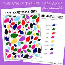 themed l christmas lights i free printable for kids