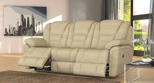 Fabric Sofas Perth 3 Seater Electric Double Recliner Sofa