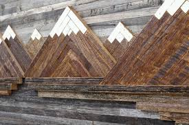 wood mountain wall custom made wood wall mountain landscape 48 by