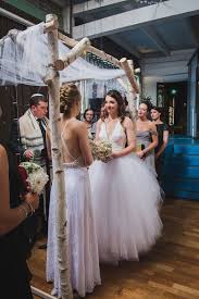 emerald city trapeze halloween trapeze tulle and two ladies at a stunning seattle wedding