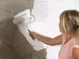 diy basement concrete wall paint amazing basement concrete wall