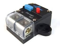 12 volt 200 manual resettable circuit breaker car audio and
