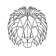 geometric lion print u2013 squareroot design
