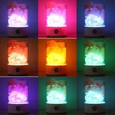 crystal plug in night light 2018 himalayan natural usb plug crystal rock night light salt l