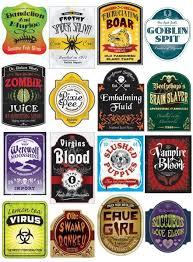 halloween drink label templates u2013 fun for christmas