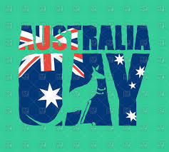 Austrslia Flag Australia Day Text With Kangaroo And Australian Flag Royalty Free