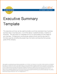 10 executive summary template doc financial statement form