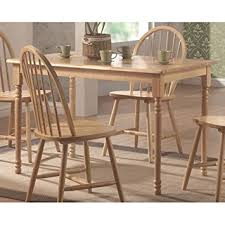 Amazoncom Coaster Country Butcher Block Oak And White Finish - Butcher block kitchen tables and chairs