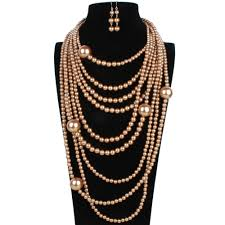 costume jewelry pearl necklace images Multilayer jewelry set classic imitation pearl wedding jewelry jpg